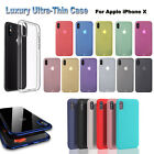 For iPhone X Case Ultra Slim Protector Shockproof Plating Clear Soft Cover W