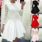 UK Womens Sexy Evening Party Cocktail Dress Bridesmaid Wedding Skater Dresses