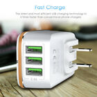 US STOCK 3-Port USB 5V 3.4A Wall Home Travel AC Fast Charger Adapter US/EU Plug