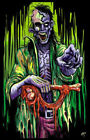ZOMBIE STALKER BLACKLIGHT Art Silk Poster 12x18 24x36 24x43