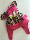 Jumping Beans 6 18 2T 4T Pink Cheetah Fleece Hat & Mittens Set Baby Toddler Girl