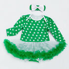St Patrick Long Sleeve Baby Clothing Cupcake Cotton Rompers With Ribbon Headband $23.83 USD on eBay