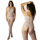 Fetish Transparent Fishnet Bodysuit Body Stocking Lingerie Underwear Knickers