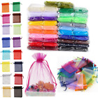 25/50/100pcs Organza Gift Bags Wedding Decoration Party Favour Jewellery Packing
