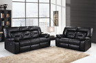 FULL LEATHER ROCKFORD RECLINER SOFA (100% Bonded Leather)