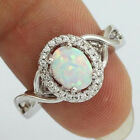 fancy rings - Unique Fancy Fire Opal 925-Silver-Filled Jewelry Gemstones Rings Wedding