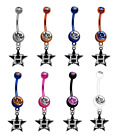Houston Astros 3 MLB Baseball Belly Navel Ring - Pick Your Color - BRAND NEW on Ebay