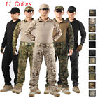 Tactical Combat Camouflage Shirt Trousers Pants Uniform Frog Suit Army Military