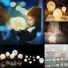 3D USB LED Magical Moon Night Light Moonlight Table Desk Moon Lamp Touch Sensor