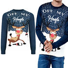 Threadbare Adults Off My Hoofs Novelty Christmas Jumper Festive Knitted Pullover
