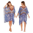 Boutique Luxury Womens Blue Printed Summer Cover Up Kaftan WAS £30 NOW £10