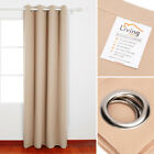 LivingBasics® Blackout Curtain Eyelet Curtains Blackout Room Darkening W/ Rings <br/> ⭐⭐⭐⭐⭐✔3 size 7 colors✔2-4 Days Receive!✔Canadian Seller