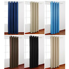 LivingBasics® Blackout Curtain Eyelet Curtains Blackout Room Darkening W/ Rings