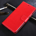 Luxury Leather Magnetic Flip Stand Phone Case Cover For iPhone Samsung Huawei