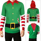 Threadbare Mens Buddy Elf Novelty Warm Knitted New Festive Christmas 3D Hoodie