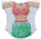 Hula Girl LA Imprints Women's Bathing Suit Cover Up Cowgirl T-shirt Lady's Fun