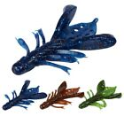 5pcs Soft Fishing Lure Swimbaits with Salt and Strong Shrimp Smell