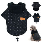 Cute Small Dog Coats Winter Warm Pet Puppy Clothes for Chihuahua Poodles Black