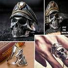 Wholesale 925 Solid Sterling Silver Cheap Punk Skull Rings Jewelry Sz 6 7 8 9 10