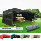 Heavy Duty 6x3mtr FULLY WATERPROOF Pop Up Gazebo Wedding Party Tent with Sides