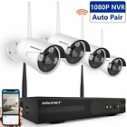 4CH 1080P HD Video Wireless Surveillance Security System 4*IP Camera Plug & Play