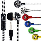 Reflective Fiber Cloth Line Crack Wired Braided Headphone For Samsung PC MP3 IOS