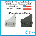Внешний вид - 12X 90° 20x28 Corner Brace/Angle Bracket for 2020 Extrusion - Aluminum or Black