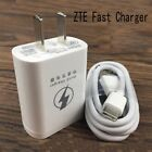Original ZTE 9V/5V Fast Travel Wall Charger &Cable For Blade AXON 7 SPARK V8 Pro