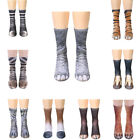 Funny Animal Crew Socks Paw Feet Sublimated Print Novelty Adult Women Men