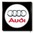 AUDI LED 50cm x 50cm WALL LIGHT BADGE TRUCK LOGO CAB MAN CAVE SIGN + REMOTE