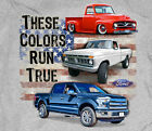 Ford Truck Flag These Colors Run True GREY Adult T-shirt