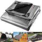 Full Size Heavy Duty Tarpaulin Poly Cover Tarp Waterproof Ground Sheet w/ Eyelet