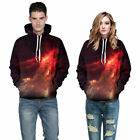 Mens & Womens 3D Print Classic Hooded Sweatshirt Hoodie Top Warm Fashion New