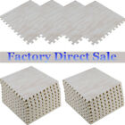 24/1200 Sq.Ft EVA Foam Floor Mat Interlocking Exercise Gym Pad White Wood LOT  image