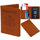 PASBUY PU Leather Passport Holder Case Protective RFID Blocking Wallet Case