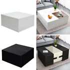 White/Black Coffee Table High Gloss Modern Storage Side Table For Living Room UK