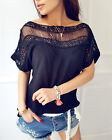 Women Summer Short Sleeve Blouse Tops Ladies Floral Loose T Shirt Casual Tee Top