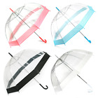 Birdcage Clear Dome PVC Umbrellas- Pink, Blue, Black, White (Various Pack Sizes)
