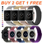 For Apple Watch Series 5 4 3 2 1 Magnetic Milanese Loop Stainless Steel Band 89A image