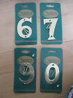 "Solid  Brass Door House Number / Numeral  3""  Numbers 0 6 7 9 with screws"
