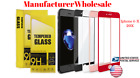 50xWholesale 3D Full Coverage Tempered Glass Wall Protector for IPHONE X/8/7/6