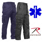 Men's Black or Navy Blue EMT/EMS Pants - Rothco Deluxe EMT P