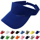 Visor Sun Hat Golf Tennis Beach Men Women Cap Adjustable Sports Plain Colors