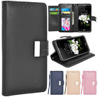 For LG Aristo 2 / LG Tribute Dynasty / LG K8 2018 Leather Wallet Flip Case Cover