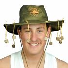 Aussie AUSTRALIAN Hat with Corks Fancy Dress Cork Crocodile Dundee Ozzie Lot Car