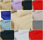 """New 100% Cotton Fitted BED SHEETS 200 Thread Count 12"""" Depth Elasticated Fitting"""