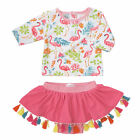 Mud Pie Girls Floral Flamingo Rash Guard Swimsuit Set 3M-5T #1122140