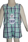 "Dana Kids Little Boys Easter Bunny ""I HOP"" Applique Shortall 6M-4T"
