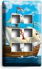 SANTA MARIA CHRISTOPHER COLUMBUS SHIP LIGHT SWITCH OUTLET WALL PLATES ROOM DECOR