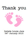 PERSONALISED NOTE CARDS THANK YOU NOTELETS BOY GIRL UNISEX NAMING CEREMONY